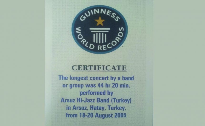 2005 YILINDA ARSUZ'DA GUINNESS REKORU KIRILDI